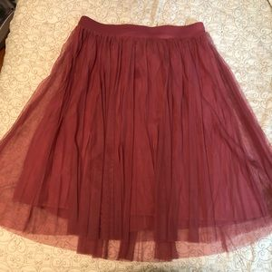Torrid: Mauve Midi Pleated Skirt